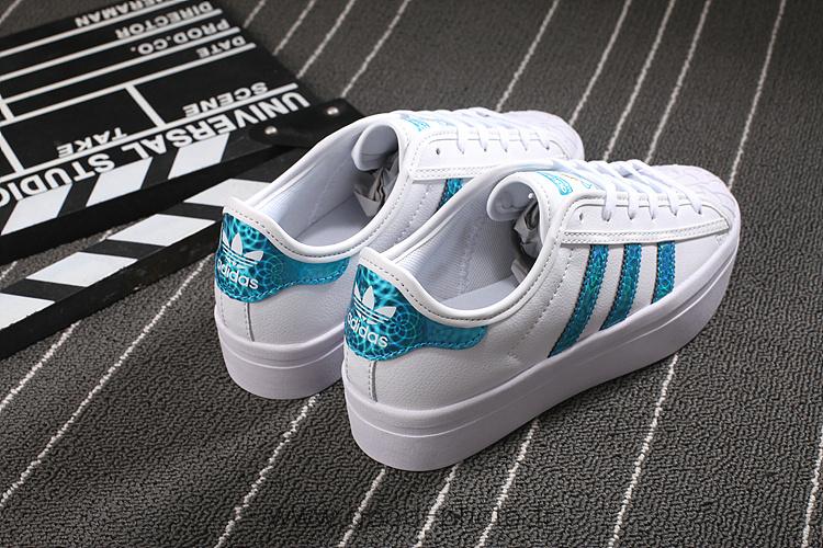 adidas superstar femme bleu turquoise